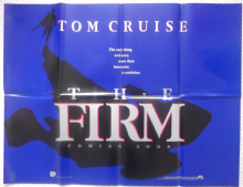 The Firm, Original Advance UK Quad Poster, Tom Cruise, Jeanne Tripplehorn, '93